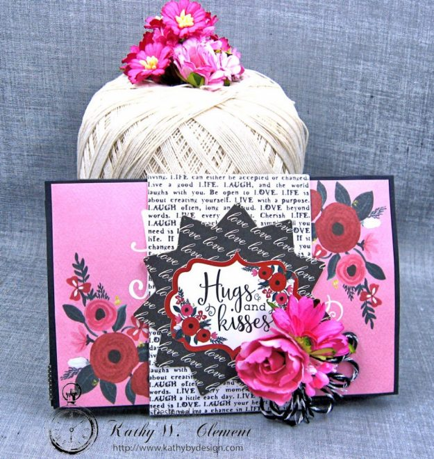 Hugs and Kisses Valentine Wallet Hello Sweetheart by Kathy Clement Valentine Gallery Post Product by Carta Bella Photo 1