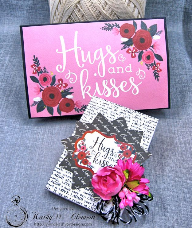Hugs and Kisses Valentine Wallet Hello Sweetheart by Kathy Clement Valentine Gallery Post Product by Carta Bella Photo 2