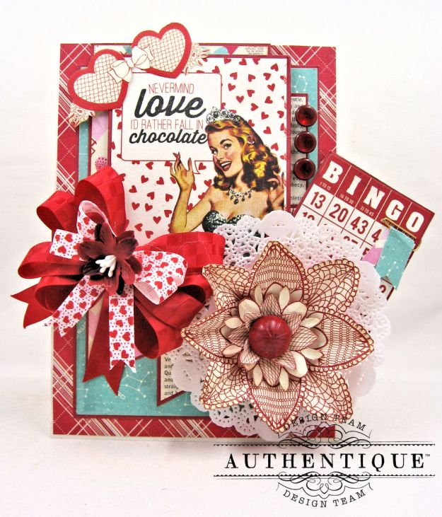 Lovestruck Sassy Valentine Card Folio Lovestruck by Kathy Clement Product by Authentique Photo 1