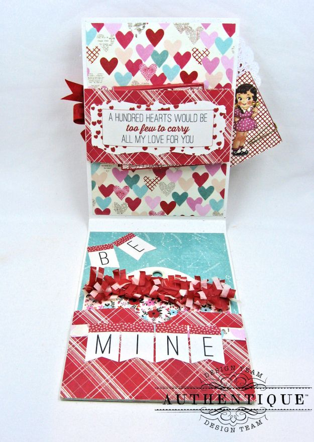 Lovestruck Sassy Valentine Card Folio Lovestruck by Kathy Clement Product by Authentique Photo 4