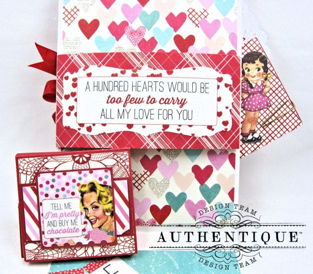 Lovestruck Sassy Valentine Card Folio Lovestruck by Kathy Clement Product by Authentique Photo 5