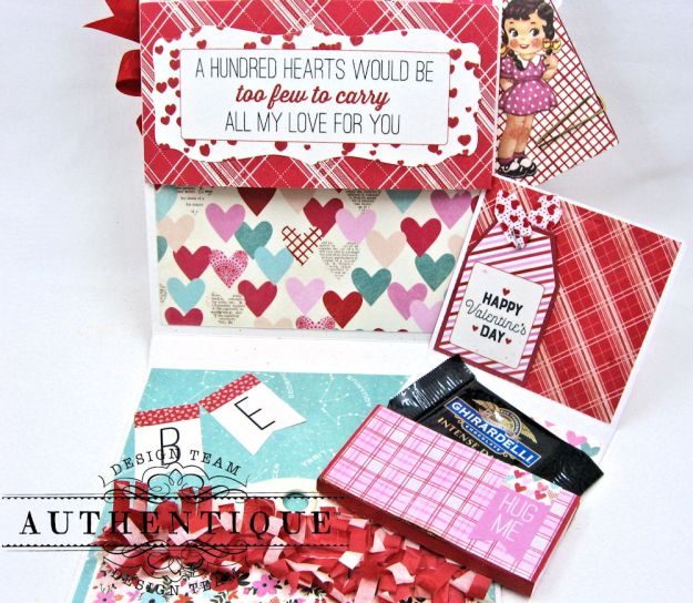 Lovestruck Sassy Valentine Card Folio Lovestruck by Kathy Clement Product by Authentique Photo 6