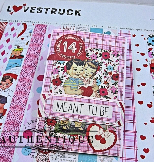 Valentine Treat Wallet Lovestruck by Kathy Clement Product by Authentique Photo 1