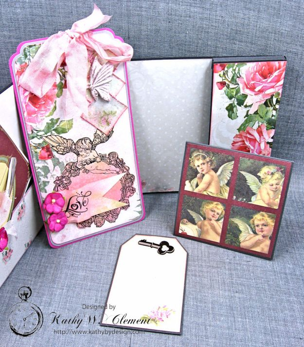 Old World Vintage Style Valentine Folio Heart Painted by Kathy Clement Product by Lemon Craft Photo 7
