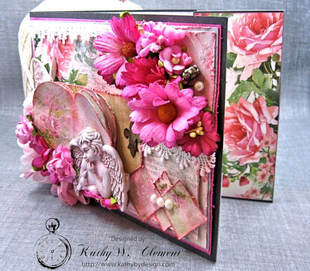 Old World Vintage Style Valentine Folio Heart Painted by Kathy Clement Product by Lemon Craft Photo 2