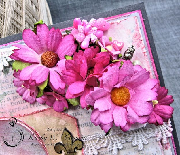 Old World Vintage Style Valentine Folio Heart Painted by Kathy Clement Product by Lemon Craft Photo 4