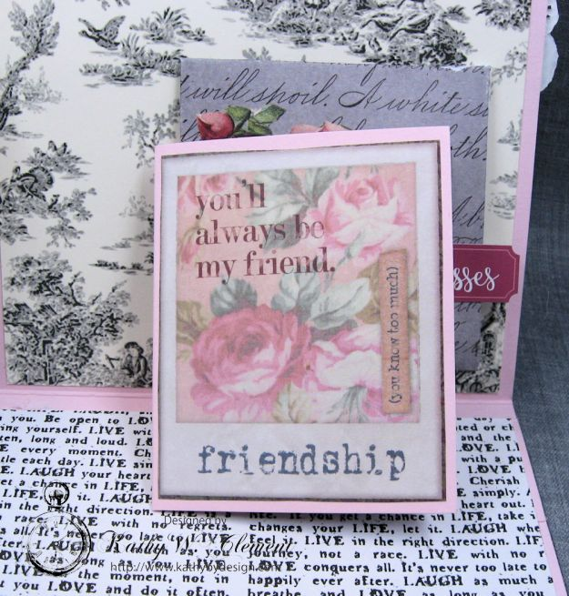 Valentine Gallery Post Pink and Black Shabby Chic Valentine by Kathy Clement Photo 4
