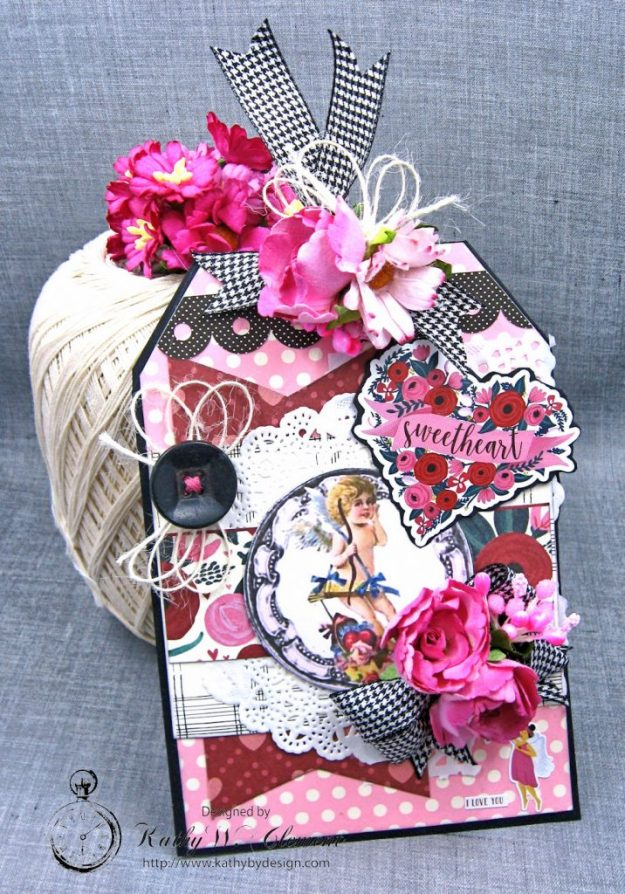 Shabby Chic Valentine Tag by Kathy Clement Photo 1