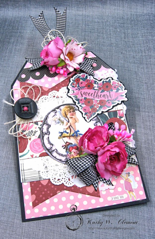 Shabby Chic Valentine Tag by Kathy Clement Photo 2