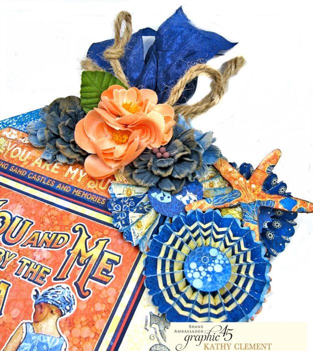Sun Kissed Jumbo Tag Sun Kissed by Kathy Clement Product by Graphic 45 Photo 4