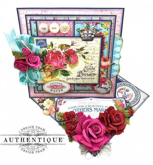 Authentique Dame Easel Cards Tutorial by Kathy Clement Photo 1