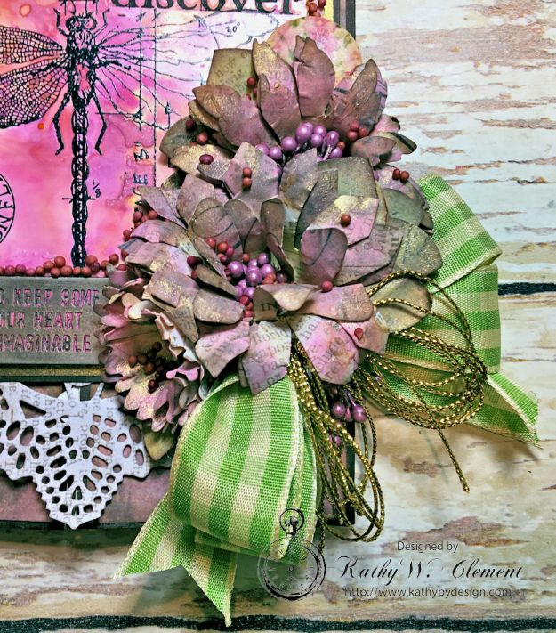 Dragonfly Discover Junk Journal Wallflower by Kathy Clement for Frilly and Funkie Product by Tim Holtz Photo 5