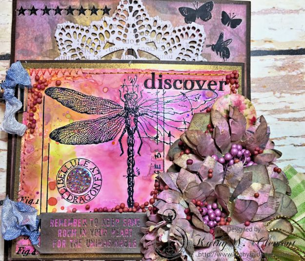 Dragonfly Discover Junk Journal Wallflower by Kathy Clement for Frilly and Funkie Product by Tim Holtz Photo 4
