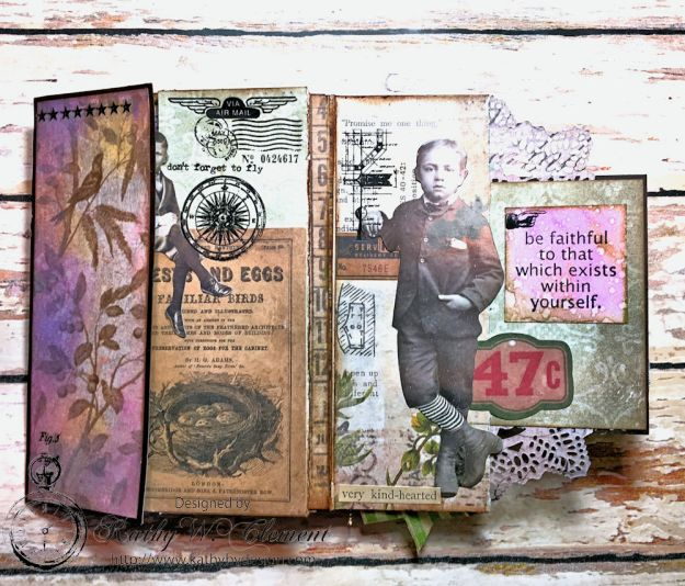 Dragonfly Discover Junk Journal Wallflower by Kathy Clement for Frilly and Funkie Product by Tim Holtz Photo 6