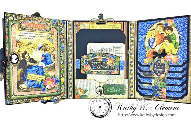 Graphic 45 Little Women Interactive Folio by Kathy Clement for Get in on the Action Challenge at Frilly and Funkie Photo 12