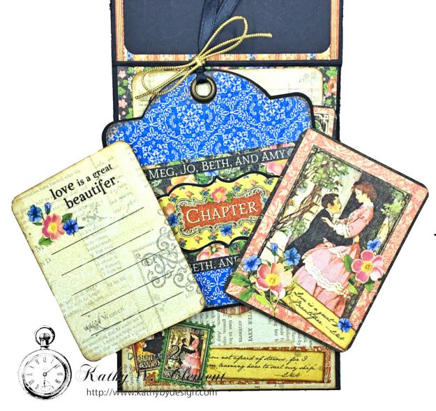 Graphic 45 Little Women Interactive Folio by Kathy Clement for Get in on the Action Challenge at Frilly and Funkie Photo13