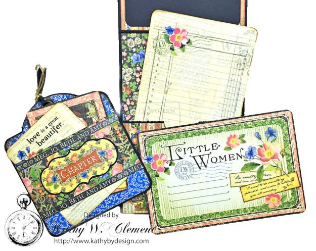 Graphic 45 Little Women Interactive Folio by Kathy Clement for Get in on the Action Challenge at Frilly and Funkie Photo 14