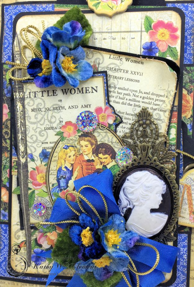Graphic 45 Little Women Interactive Folio by Kathy Clement for Get in on the Action Challenge at Frilly and Funkie Photo 03