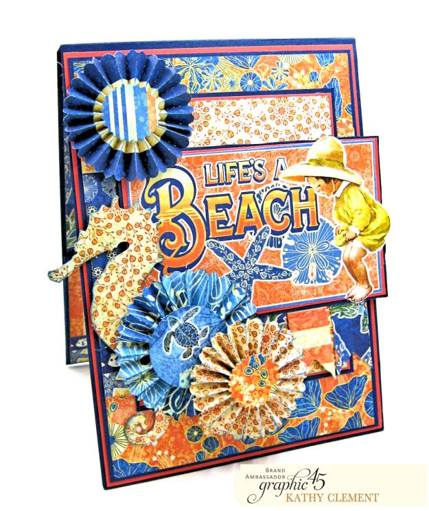 Graphic 45 Sun Kissed Life is a Beach Card Folio Sun Kissed by Kathy Clement Product by Graphic 45 Photo 1