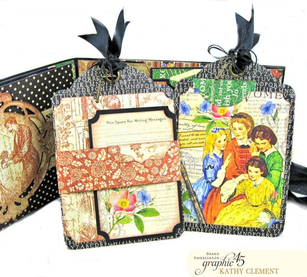 Graphic 45 Something Splendid Trifold Folio Little Women by Kathy Clement Product by Graphic 45 Photo 10