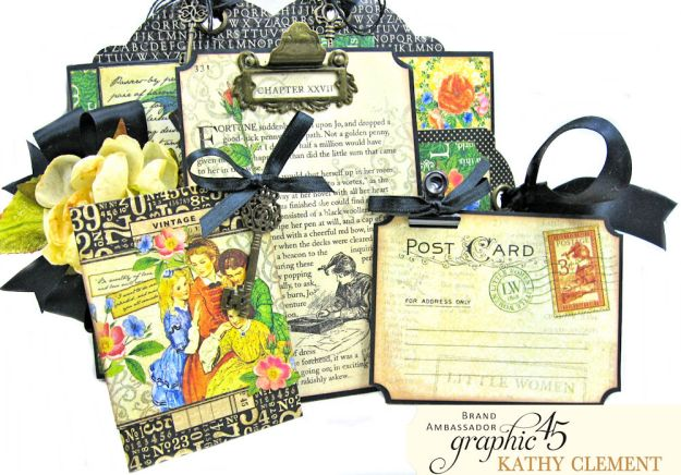 Graphic 45 Something Splendid Trifold Folio Little Women by Kathy Clement Product by Graphic 45 Photo 6