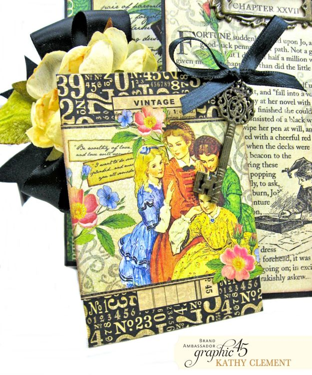 Graphic 45 Something Splendid Trifold Folio Little Women by Kathy Clement Product by Graphic 45 Photo 7