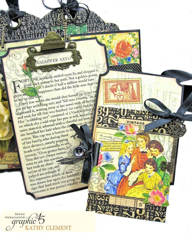 Graphic 45 Something Splendid Trifold Folio Little Women by Kathy Clement Product by Graphic 45 Photo 8