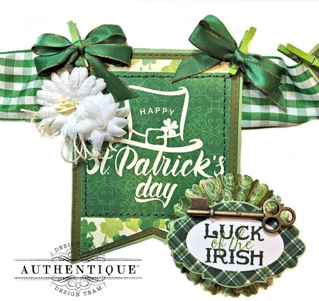 Authentique Shamrock Saint Patrick's Day Home Decor by Kathy Clement Photo 5
