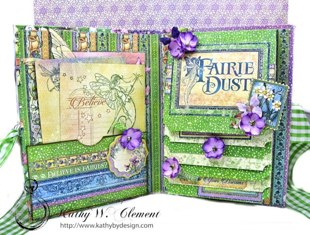 Graphic 45 Fairie Dust Waterfall Folio Fairie Dust by Kathy Clement for RRR Product by Graphic 45 Photo 6