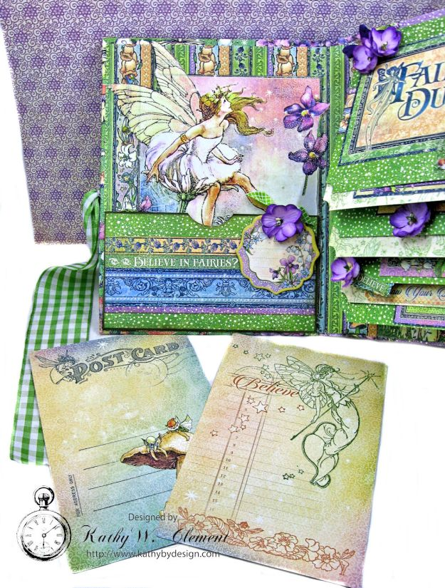 Graphic 45 Fairie Dust Waterfall Folio Fairie Dust by Kathy Clement for RRR Product by Graphic 45 Photo 9