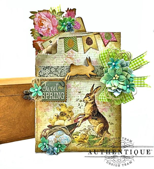 Authentique Jubilee Project Share and Center Step Easel Card Tutorial by Kathy Clement Photo 10