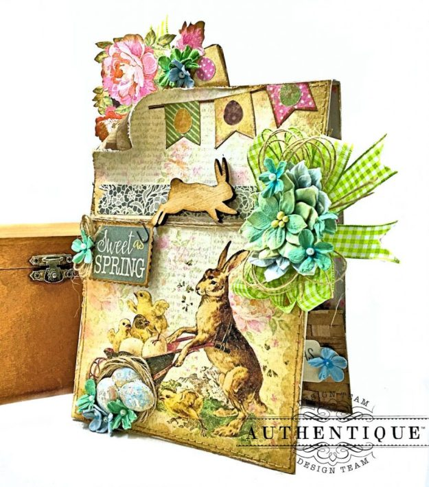 Authentique Jubilee Project Share and Center Step Easel Card Tutorial by Kathy Clement Photo 09