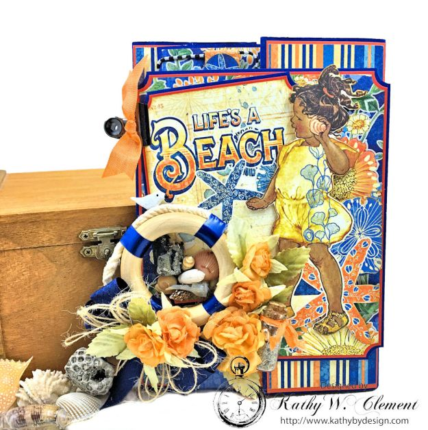Beach Walk Flap Folio Sun Kissed by Kathy Clement for The Funkie Junkie Boutique Product by Graphic 45 Photo 01