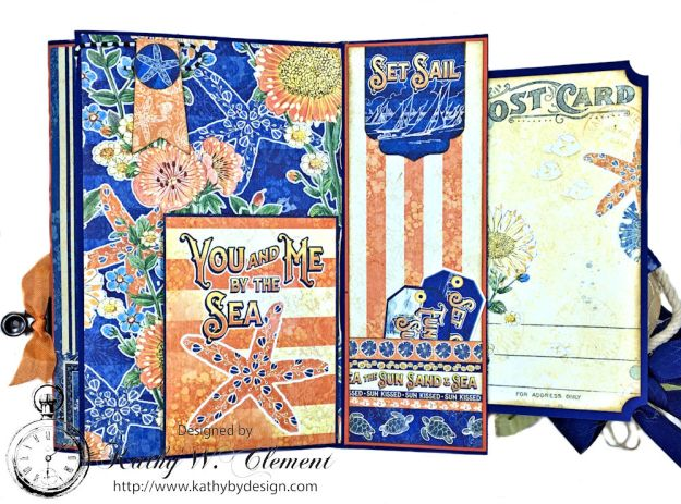 Beach Walk Flap Folio Sun Kissed by Kathy Clement for The Funkie Junkie Boutique Product by Graphic 45 Photo 06