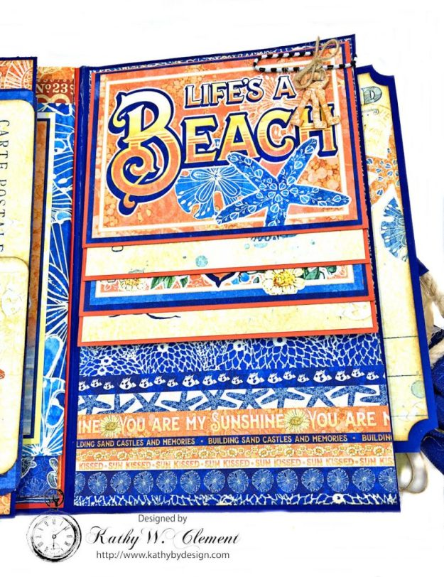 Beach Walk Flap Folio Sun Kissed by Kathy Clement for The Funkie Junkie Boutique Product by Graphic 45 Photo 08