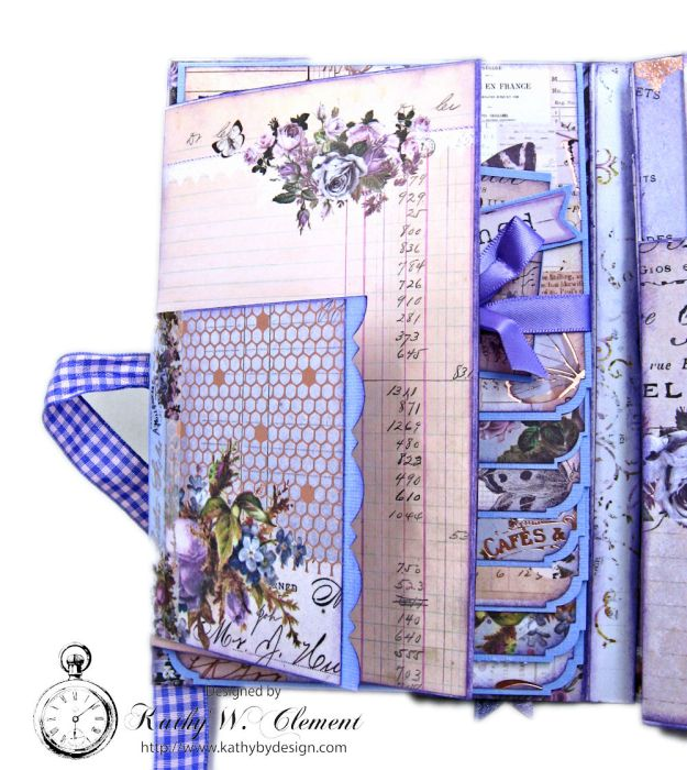 Prima Lavender Blooming Marvelous Flip Folio by Kathy Clement for The Funkie Junkie Boutique Photo 10