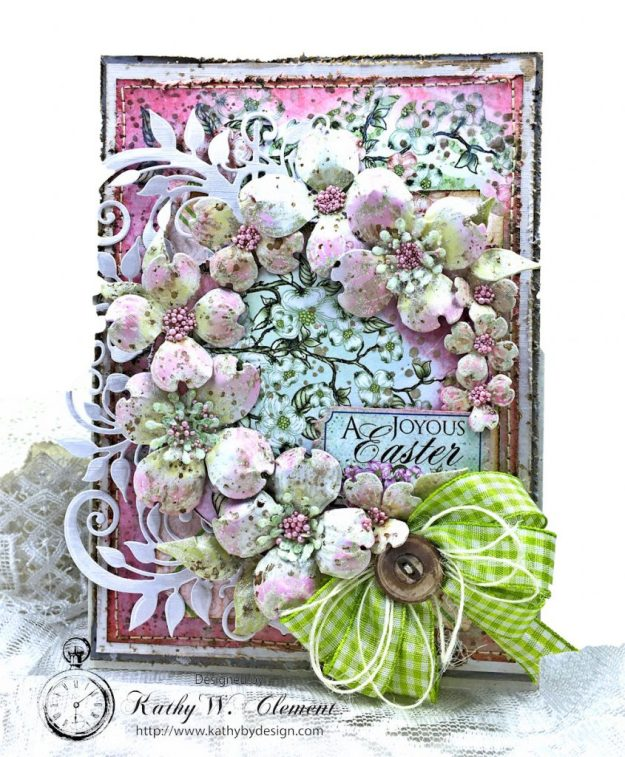 Heartfelt Easter Dogwoods Greeting Card Flowering Dogwood by Kathy Clement Product by Heartfelt Creations Photo 02