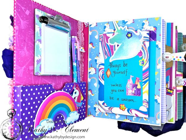 Magical Unicorn Princess Mini Album Cake by Kathy Clement for Really Reasonable Ribbon Product by Photoplay Photo 06