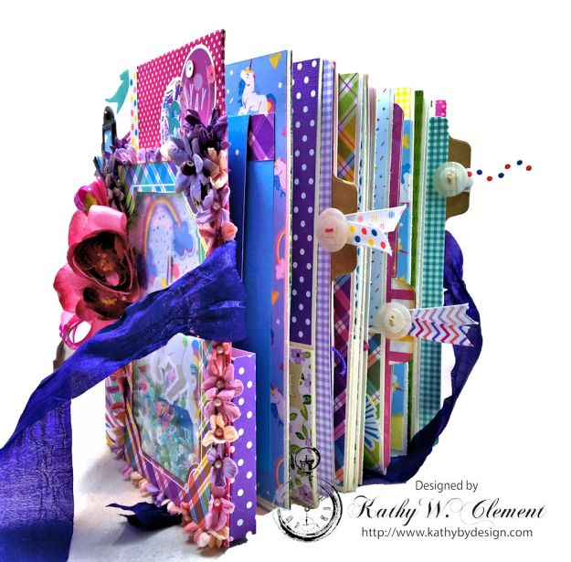 Magical Unicorn Princess Mini Album Cake by Kathy Clement for Really Reasonable Ribbon Product by Photoplay Photo 05