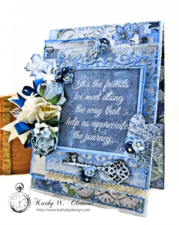 Shabby Chic Friendship Card Wandering Ivy by Kathy Clement Product by Kaisercraft Photo 01
