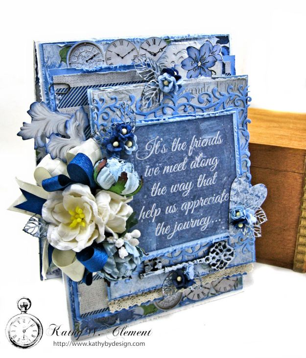 Shabby Chic Friendship Card Wandering Ivy by Kathy Clement Product by Kaisercraft Photo 03