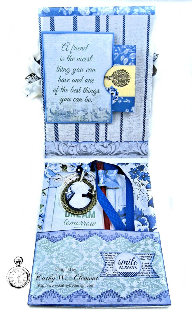 Shabby Chic Friendship Card Wandering Ivy by Kathy Clement Product by Kaisercraft Photo 05