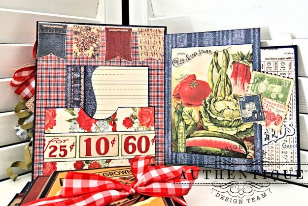 Country Blessings Folio Tutorial Frontier by Kathy Clement Product by Authentique Paper Photo 07