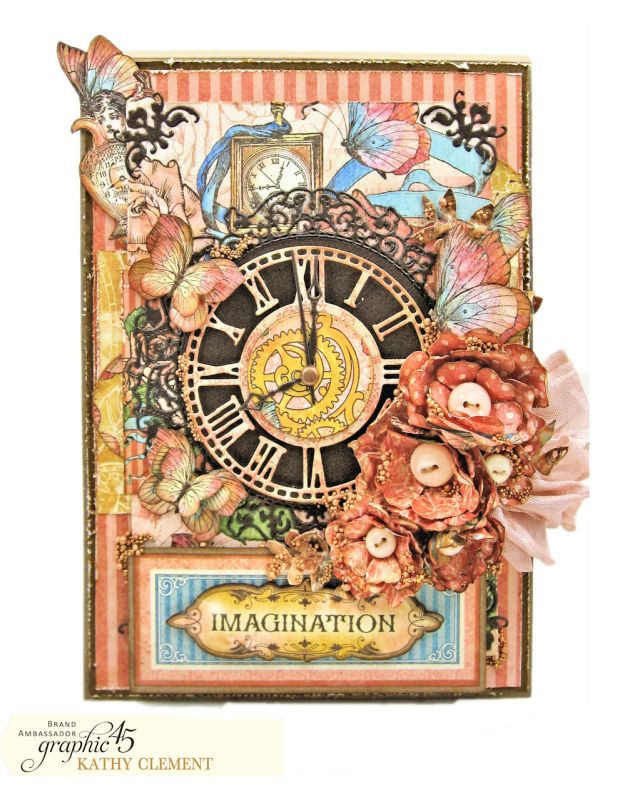 Imagination Steampunk Card Imagine by Kathy Clement Product by Graphic 45 Photo 01