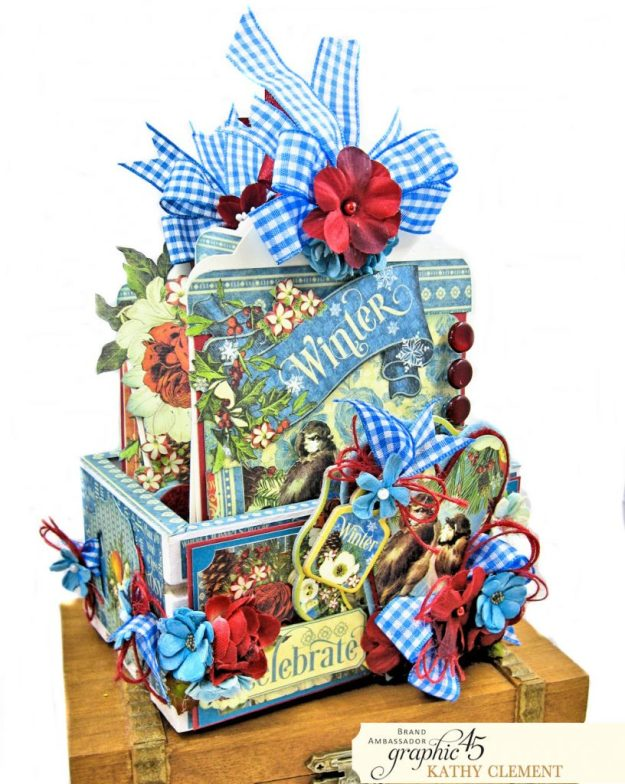 Graphic 45 Seasons Altered Mini Crate and Tags by Kathy Clement Photo 03