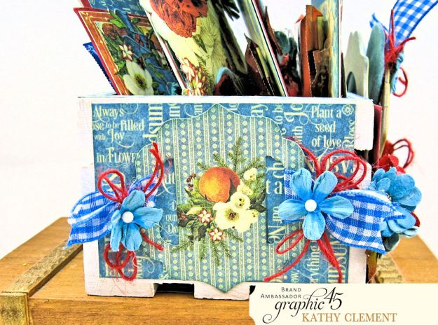 Graphic 45 Seasons Altered Mini Crate and Tags by Kathy Clement Photo 15