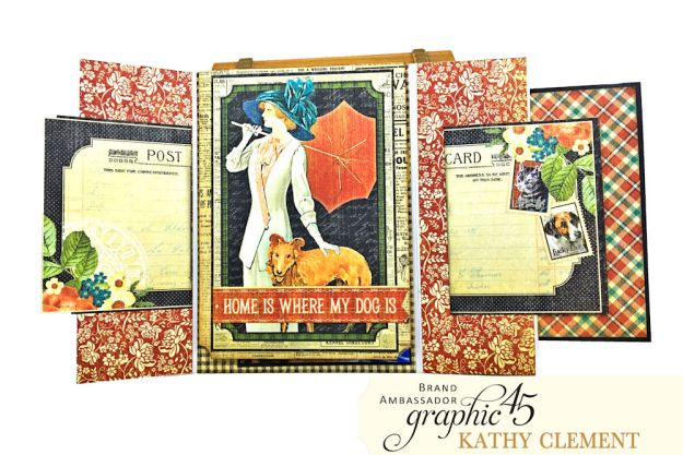 Graphic 45 Raining Cats and Dogs Photo Folio Tutorial by Kathy Clement for Really Reasonable Ribbon Photo 05