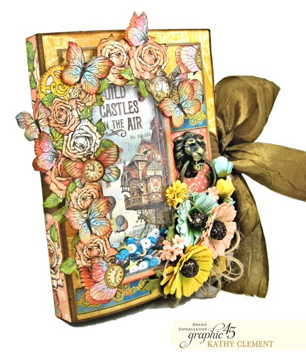 Imagine Castles in the Air Interactive Folio by Kathy Clement for the Funkie Junkie Boutique Product by Graphic 45 Photo 02