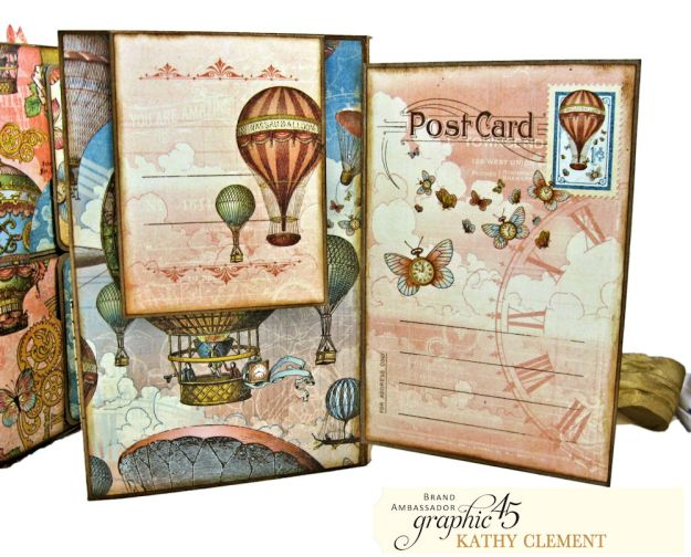 Imagine Castles in the Air Interactive Folio by Kathy Clement for the Funkie Junkie Boutique Product by Graphic 45 Photo 06