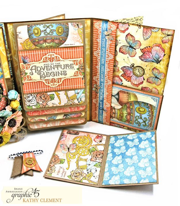 Imagine Castles in the Air Interactive Folio by Kathy Clement for the Funkie Junkie Boutique Product by Graphic 45 Photo 13